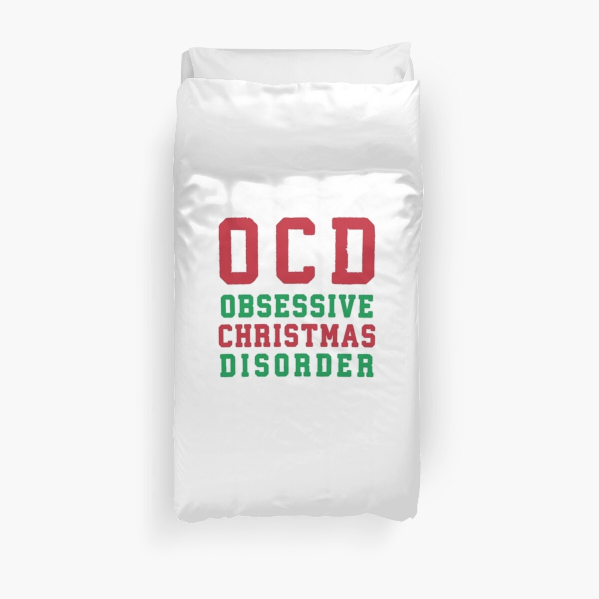 OCD Obsessive Christmas Disorder, Red and Green Ink | Women\'s ...