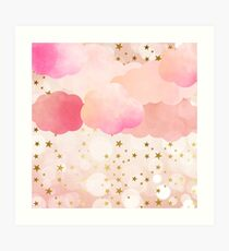 BLUSH AND GOLD DREAMS Art Print