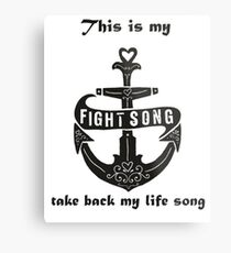 fight song Metal Print