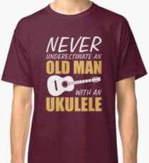 69116cbc5a Old Man With Ukulele Classic T-Shirt