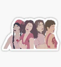 indie queens design Sticker
