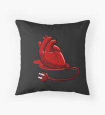 Unplug your heart Throw Pillow