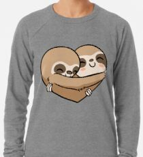 Sloth  Heart Lightweight Sweatshirt