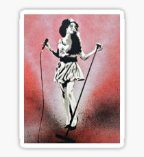 Amy Winehouse Stencil Street Art Sticker