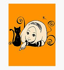 Gravity Rush - Kat New Year 2012 Logo No Text Photographic Print