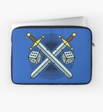 Crossed Swords and Dice Laptop Sleeve