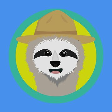 Sloth with Ranger hat by ilovecotton