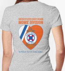 USCG Mom's Division Logo Women's Fitted V-Neck T-Shirt