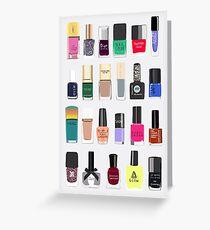 My nail polish collection Greeting Card