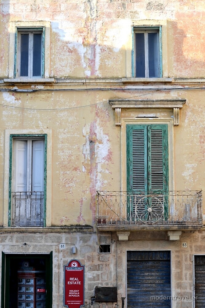 Shutter in the wall in Italy by moderntraveller