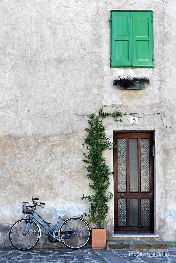 Bicycle beside the door, Italy by moderntraveller
