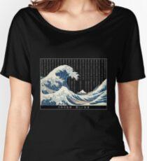 Hokusai japan rain Women's Relaxed Fit T-Shirt
