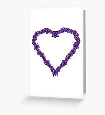 Violets for Sappho - Sapphic Floral Heart Greeting Card