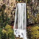 Tumalo Falls, fall. by Richard Bozarth