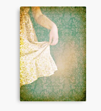 The yellow dress. Canvas Print