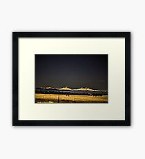 Night Over the Cascades Framed Print