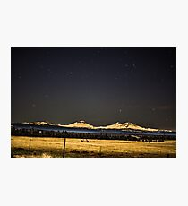 Night Over the Cascades Photographic Print