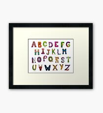 Monster Alphabet Framed Print