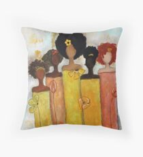 Sistahs Stand Golden Throw Pillow