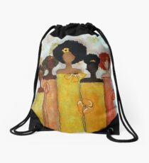 Sistahs Stand Golden Drawstring Bag
