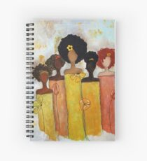 Sistahs Stand Golden Spiral Notebook