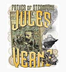 Jules Verne - Father of Steampunk Photographic Print