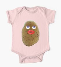 Funny Potato Cute Character With Blue Eyes One Piece - Short Sleeve