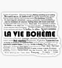 La Vie Bohème Sticker