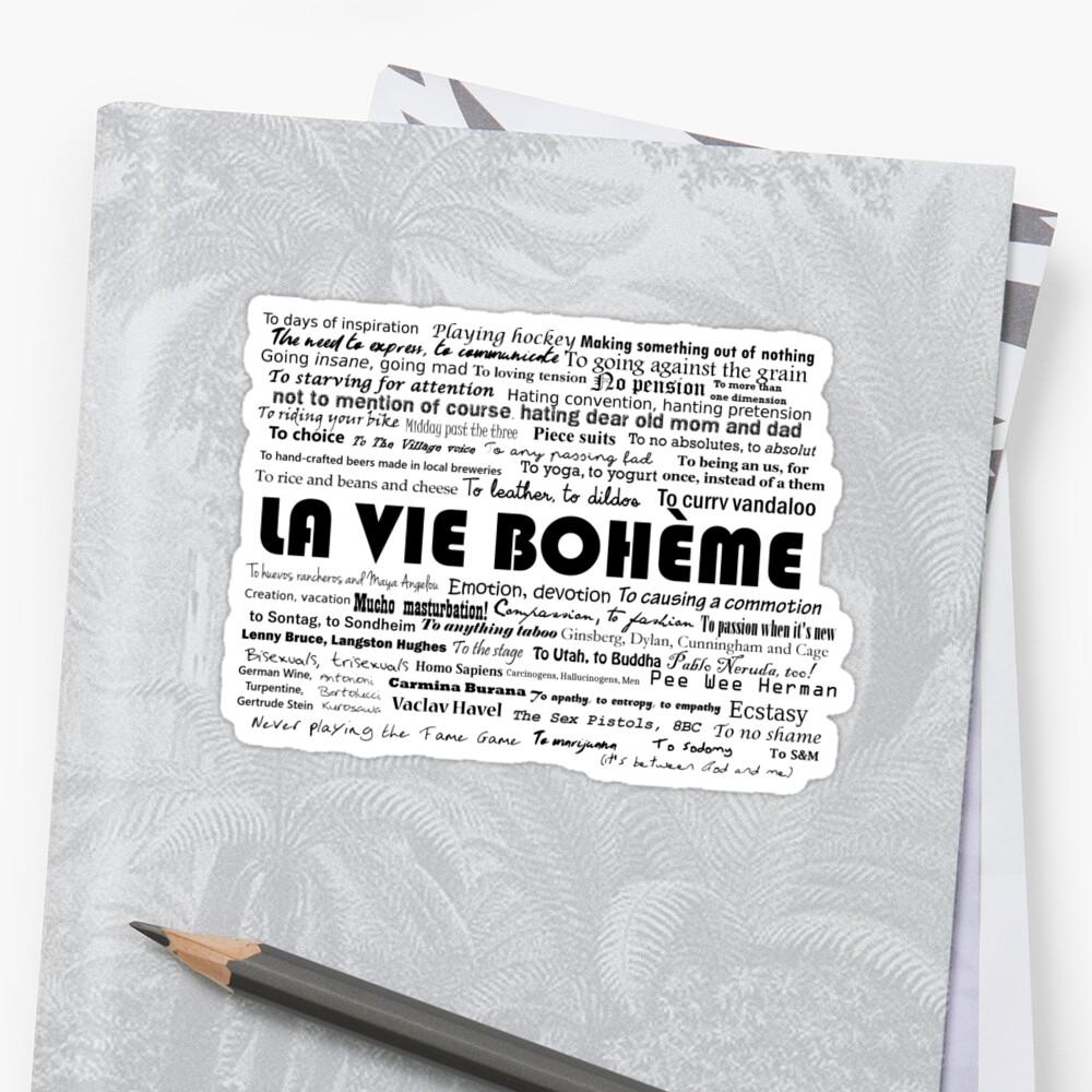 La Vie Bohème by jireneax