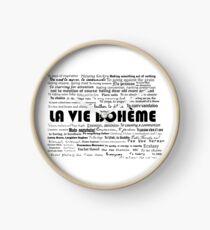 La Vie Bohème Clock
