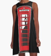 Red telephone box A-Line Dress