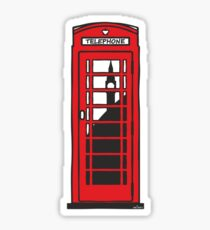 Red telephone box Sticker