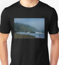 San Francisco Fog - China Beach Soft Foam Rough Rocks Unisex T-Shirt