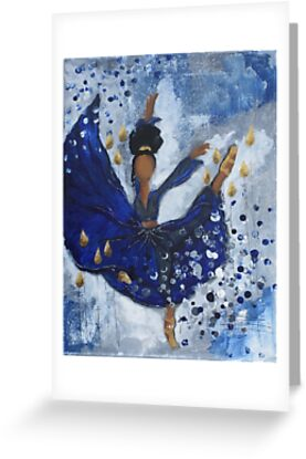 Misty Ballerina, African American Ballerina, Dance by Tiare Smith