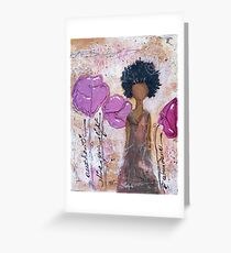 Let Your Light Shine, African American, Latina Greeting Card