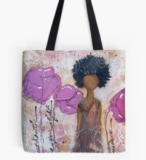Let Your Light Shine, African American, Latina Tote Bag