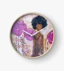 Let Your Light Shine, African American, Latina Clock