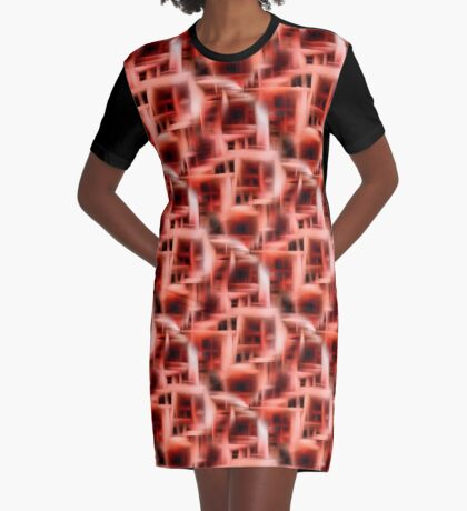 Abstract Rooms Of The Mind Graphic T-Shirt Dress