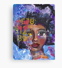 Fearless Girl, African American, Latina Canvas Print
