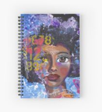 Fearless Girl, African American, Latina Spiral Notebook