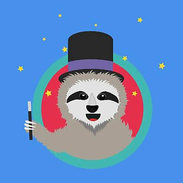 Magican Sloth with wand by ilovecotton