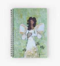 Angel of Abundance, African American, Angel, Black Angels, Latina Spiral Notebook
