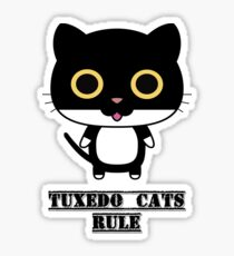 Tuxedo Cats Rule Sticker