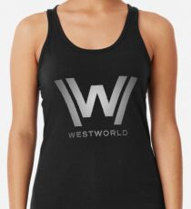 Westworld - Metallisches Logo Racerback Tank Top