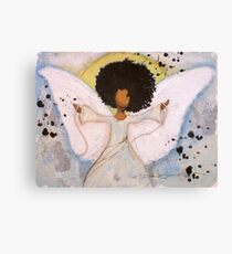 Boundless Angel, African American, Latina, Black Angel Canvas Print
