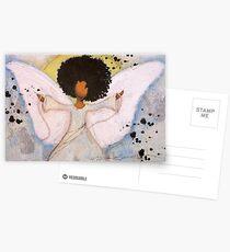 Grenzenloser Engel, Afroamerikaner, Latina, schwarzer Engel Postkarten