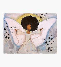 Boundless Angel, African American, Latina, Black Angel Photographic Print