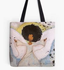 Boundless Angel, African American, Latina, Black Angel Tote Bag