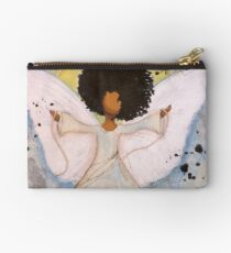 Boundless Angel, African American, Latina, Black Angel Studio Pouch