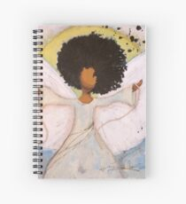 Boundless Angel, African American, Latina, Black Angel Spiral Notebook